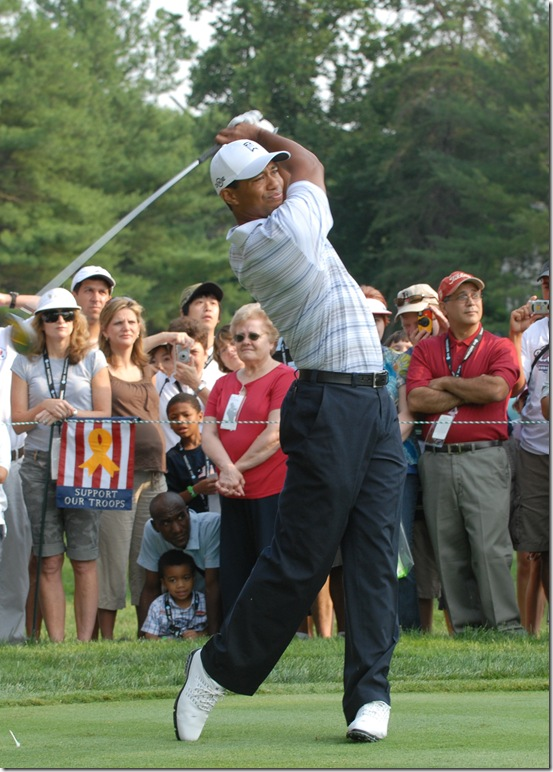 Tiger Woods in Swing